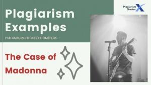 Plagiarism Example Madonna