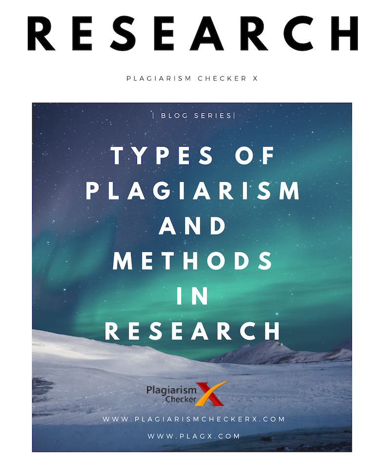 plagiarism types and research methods